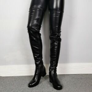 Women Flat Over The Knee Boots Casual Round Toe Knight Thigh High Boots Shoes Sz