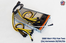 Power Supply for Two (x2) Antminer S9 / S9i / S9j  with Ready To Plug Harness
