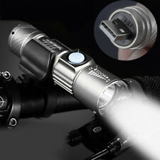 Adjustable LED Zoom 3000LM MINI USB Rechargeable Flashlight Torch Portable Lamps