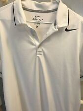 Mens - Nike Golf Or Tennis Polo Shirt Dri Fit White L Large