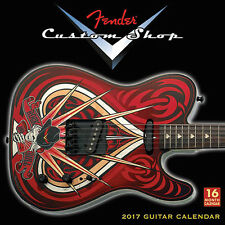 "2017 Fender Custom Shop Guitar Wall Calendar 12""x12"" NEW!"