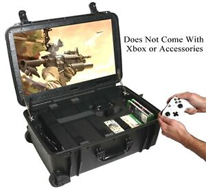 """Case Club Xbox One X/S Portable Gaming Station with Built-in 24"""" 1080p Monitor"""
