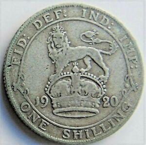 1920 GB George V One Shilling grading FINE.