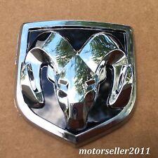 3D Chrome Black Hood Or Trunk Tailgate Fenders Decal Badge Emblem 61x66mm