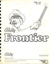 Service manual Frontier Bally Pinball