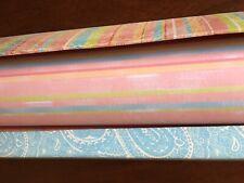 "Tina Higgins Tri-Coastal Design Drawer Liners Lining Paper Pastel Stripe 15"" 23"""