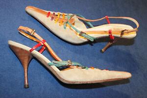 PRADA Designer Sling Stiletto Pumps Pantolette Mules Sabot Vintage Sammler 40