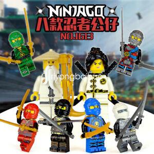 8Pcs/Set Ninjago Ninjas Minifigure Figures Assemble Toys Baby surprise Fast Ship