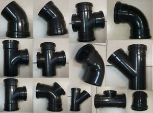 SOIL DRAINAGE FITTINGS - RING SEAL - NEXT DAY DELIVERY FOR £2 EXTRA