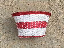 NOS White Red Woven Basket Nice !! Schwinn Debutante Starlet Hollywood Jaguar