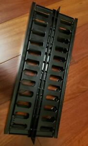 """1U Horizontal Double Sided Finger Duct Cable Manager 19""""Rack System with covers"""
