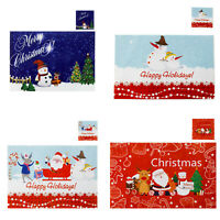 Set of 4 Christmas Placemats and Coasters Dining Table Place Mats Kitchen Decor