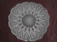 #1171 Beautiful Vintage Hand Made Doily 31cm/(12'')