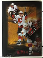Jarome IGINLA Calgary Flames Lithograph NHL Hockey LIMITED EDITION Gerry Thomas