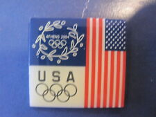 New listing Athens 2004 Usa Olympic Team American Flag Pin Badge Authentic Collector New