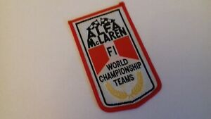 Alfa McLaren F1 World Championship Teams Sew on Patch Badge Retro Collector Item