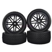 SET RC 1:10 Off-Road Buggy Car Front&Rear Foam Tyres Tires Wheel Rim 66046-66056