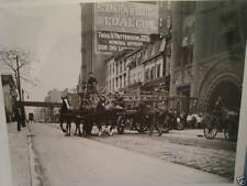 1920 Brooklyn FDNY Jay St HQ Horse-drawn truck NYC