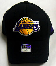 NBA Los Angeles Lakers Adidas Structured Stretch Curve Brim Cap Hat OSFA NEW!
