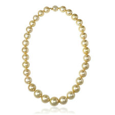 14k Yellow Gold Golden South Sea Pearl Necklace