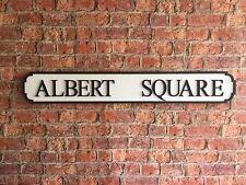 ALBERT SQUARE  Vintage Wood London Street Road Sign