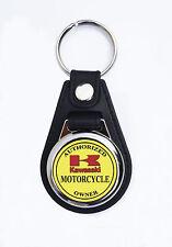 KAWASAKI,AUTHORIZED KAWASAKI MOTORCYCLE OWNER FAUX LEATHER KEY RING.