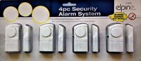 4 X EASY TO FIT WIRELESS DOOR / WINDOW / HOME / SHED / GARAGE ETC ALARMS