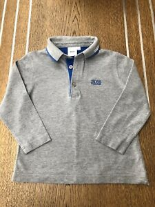 Hugo Boss Boys Long Sleeve Polo Top Age 5 Fits Age 4 - NEW Without Tags