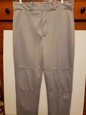Wilson Mens Adult Baseball Pants Gray w/ Black Logo Syle A4330 Large Nwt