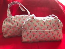 HANDMADE Wash Bag Vanity Make Up Toiletry Waterproof FLAMINGO Fabric  BNWT WB05