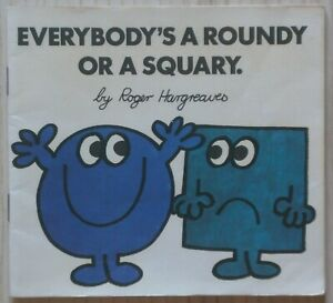 Everybody's a Roundy or a Squary by Roger Hargreaves, 1975 - 1st Edition, NFine