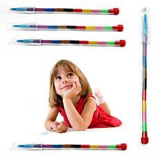 24X Children Kids Swap Swop Point Crayons Stacker Pencils Party Loot Bag Fillers