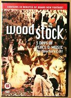 Woodstock DVD 1970 Classico Musica Hippy Festival Concerto Film Del Regista Cut