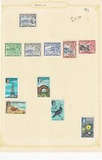 St CHRISTOPHER NEVIS ANGUILLA PRE 1980's ALBUM PAGE OF 11 STAMPS