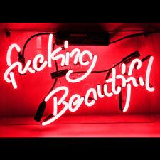 Fucking-beautiful Neon Sign Light Beer Bar Pub Home Room Wall Decor14'' x9''