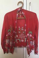 Vintage Gypsy Embroidered Spell Jacket Kimono Top - Size 8 10 12 - Never Worn
