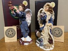 Boyds Bears Folkstone Angels -Lot of 2- 1999, 2000 Limited Edition January 1E