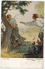 Art of Russian Artist Solomko, Pursuit, issued by T.S.N. #19, 1910s