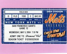 2004 Mike Piazza HR 352 Ticket Pass Sets Catcher Record Tops Carlton Fisk/Mets