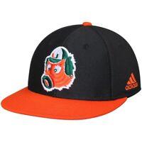 Miami Hurricanes Hat Adidas Climalite On Field Maniac Black Orange Fitted 7-3/8