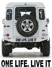One Life live it 4x4 Land Rover Aufkleber JEDE GRÖßE Farbauswahl