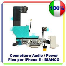 FLEX CARICA RICARICA DOCK MICROFONO AUDIO Per  IPHONE 5 Flex BIANCO RICAMBIO