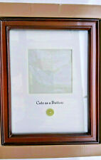 """Baby Photo Frame Cute As A Button Green Brown Wood 4"""" Picture 2005 Target Design"""