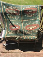 Lake Trout/ Large Mouth Bass/  Northern Pike  Fleece Throw Blanket