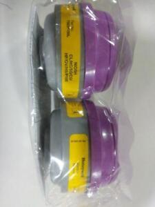 North by Honeywell 7583P100L P100 Combination Acid Gas & Vapor, Yellow/Magenta