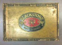 """Vintage Blackstone Waitt & Bond Cigar Box 1920-30""""s Factory #5 New Jersey"""