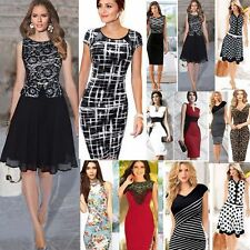 Women Office Lady Bandage Bodycon Party Cocktail Pencil Sheath Dress Work Wear