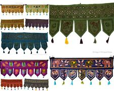 Diwali Gft Handmade Patchwork Indian WindowValance Door Hanging Embroidery Toran