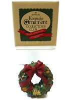 Wreath of Memories Handcrafted Hallmark Keepsake Ornament 1987