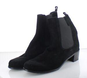 63-31 Women's Sz 12 M Stuart Weitzman Suede Chelsea Boots - Black